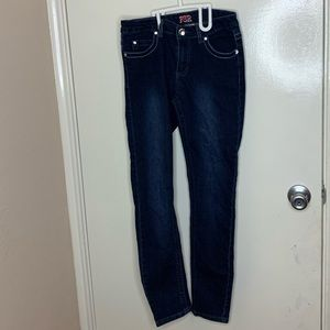 Jeweled denim jeans